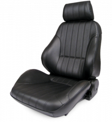 Mustang Procar Rally Black LEATHER Seat, Left