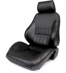 Procar - Mustang ProCar Rally Smooth Back Seat, BLACK Leather, Right