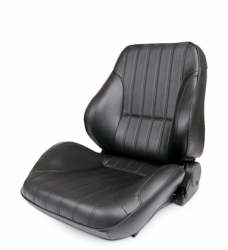 Procar - Mustang ProCar Rally Lowback Seat without Headrest, Black Vinyl, Right
