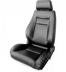 Seats & Components - Aftermarket Seats - Procar - Mustang Procar Elite Seat, Black Vinyl, Left
