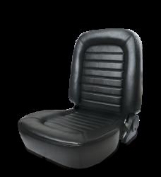 Procar - Mustang ProCar Classic Lowback Seat WITHOUT Headrest, Black Vinyl, Left
