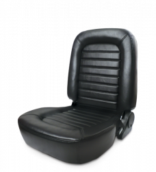 Seats & Components - Aftermarket Seats - Procar - Mustang ProCar Classic Lowback Seat WITHOUT Headrest, Black Vinyl, Right