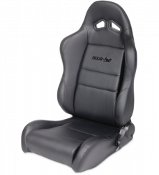 Seats & Components - Aftermarket Seats - Procar - Mustang Procar Sportman Black Vinyl Seat, Right