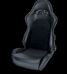 Seats & Components - Aftermarket Seats - Procar - Mustang ProCar Sportman PRO Recliner Seat, Black Velour/Black Vinyl