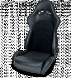 Procar - Mustang ProCar Sportman PRO Recliner Seat, Black Velour/Black Vinyl