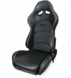 Procar - Mustang ProCar Evolution Sport Recliner, Black Vinyl, Right