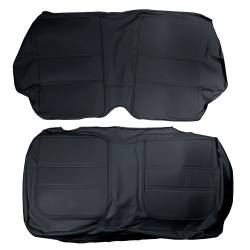 65 - 67 Mustang Coupe Procar ELITE Rear Seat Upholstery, Black LEATHER