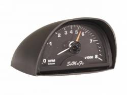 Gauges - Stock Gauges - Scott Drake - 65-70 Mustang Hood Mounted Tach (with Black Face, 8000 RPM