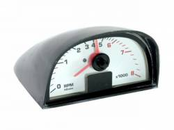 1965 - 1970 Mustang  Hood Mounted Tach (White Face)