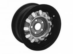 Wheels - 14 Inch - Scott Drake - 1968 - 1969 Mustang  Styled Steel Wheel (14x6 Black Rim)