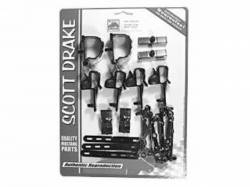 Wire Harnesses - Mounting Hardware - Scott Drake - 1968 Mustang Wire Loom Mounting Kit