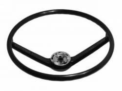 Steering Wheel & Related - Steering Wheels - Scott Drake - 68-69 Mustang Standard Steering Wheel (Black)