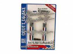 Emblems - Kits - Scott Drake - 1968 Mustang Emblem Kit (302)