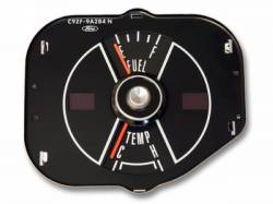 Gauges - Stock Gauges - Scott Drake - 1969 Mustang Fuel & Temp Gauge, Black