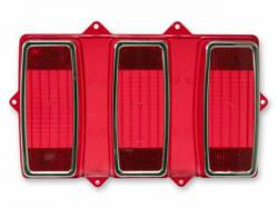 Electrical & Lighting - Tail Lights - Scott Drake - 69 Mustang Tail Light Lens (with Stainless Trim)