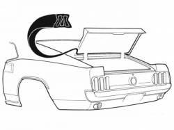Weatherstrip - Trunk - Scott Drake - 69-70 Mustang Fastback Trunk Seal
