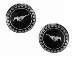 Emblems - Misc Exterior - Scott Drake - 1969 - 1970 Mustang  Roof Pillar Ornaments (2 piece set)