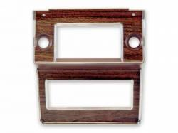 Dash - Radio & Related - Scott Drake - 69-70 Mustang Radio Bezel (Wood Grain)