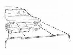 69 -70 Mustang Coupe Or Convertible Trunk Molding