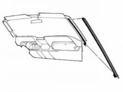 Weatherstrip - Convertible - Scott Drake - 1969-1970 Mustang Convertible Pillar Seal (LH)