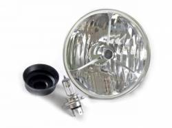Electrical & Lighting - Headlights - Scott Drake - 65-68 & 70-73 Mustang Tri-Bar Halogen Headlamp (Clear)