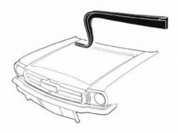 Body - Exterior Seals & Grommets - Scott Drake - 64-66 Mustang Cowl to Hood Seal