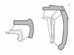 Weatherstrip - Kits - Scott Drake - 1964 - 1966 Mustang  Fender Splash Shield Kit (Front)
