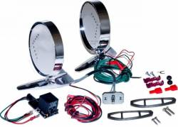 Body - Mirrors - Scott Drake - 64 - 66 Mustang Remote Mirror Kit w/ LED Indicator