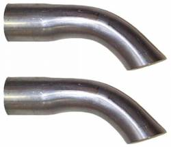 Exhaust - Tips - Scott Drake - 65 - 66 Mustang Exhaust Tips ( Turned Down Tips)