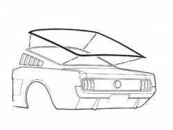 Weatherstrip - Window - Scott Drake - 65-66 Mustang Fastback Rear Window Seal