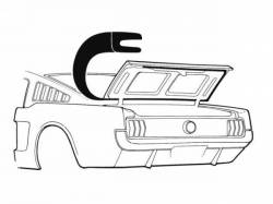 Weatherstrip - Trunk - Scott Drake - 64-66 Mustang Fastback Trunk Seal