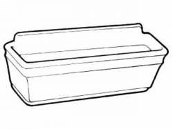 Door Panels & Related - Arm Rests - Scott Drake - 66-67 Mustang Pony Door Panel Cups (Dark Red)