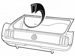 Weatherstrip - Trunk - Scott Drake - 1964 - 1968 Mustang  Trunk Wheel House Seam Cover