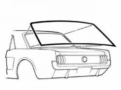 Weatherstrip - Window - Scott Drake - 64-68 Mustang Coupe Rear Window Seal