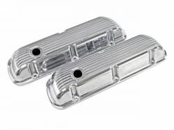 Engine - Valve Covers - Scott Drake - 1964 - 1973 Mustang Cal Custom Aluminum-Finned Valve Covers