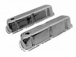 Engine - Valve Covers - Scott Drake - 1964 - 1966 Mustang  Polished Chrome Valve Covers (289, 302, 351W)