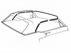 Weatherstrip - Convertible - Scott Drake - 65-68 Mustang Convertible Top Seal Kit