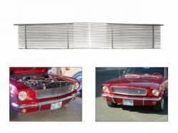 Grille - Grille Assembly - Scott Drake - 64 - 66 Mustang Billet Aluminum Front Grille