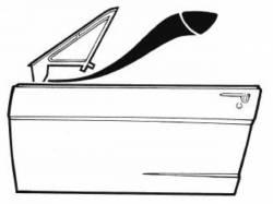 67 - 68 Mustang Vent Window Frame To Door Seals