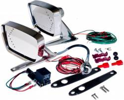 Body - Mirrors - Scott Drake - 67 - 68 Mustang Remote Mirror Kit w/ LED Indicator