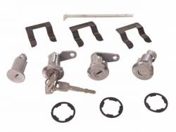 Locks & Ignition - Trunk Locks - Scott Drake - 67-69 Mustang Ignition/Door/Trunk Lock Set