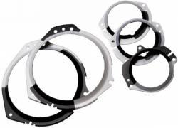 Gauges - Lenses - Scott Drake - 67 - 68 Mustang Instrument Lens Retainer Bezel