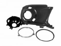 Headlight - Assemblies - Scott Drake - 1967 - 1968 Mustang Reproduction Headlamp Bucket Assembly (LH)