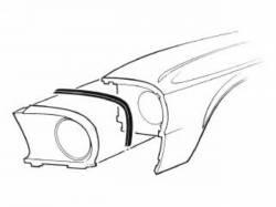 Body - Exterior Seals & Grommets - Scott Drake - 67 -70 Mustang  Front Fender Extension Seal