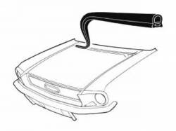 Body - Exterior Seals & Grommets - Scott Drake - 67-68 Mustang Cowl to Hood Seal