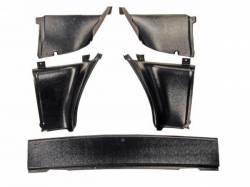 Scott Drake - 67-68 Mustang Fastback Upper Back Trim Panels, 5 Pieces