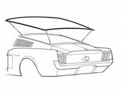 67-68 Mustang Fastback Rear Window Seal