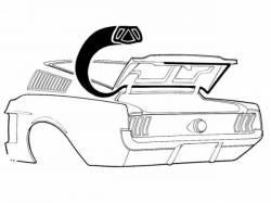 Weatherstrip - Trunk - Scott Drake - 67-68 Mustang Fastback Trunk Seal