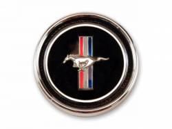 Interior - Emblems - Scott Drake - 67-68 Mustang Deluxe Dash Panel Emblem & Base