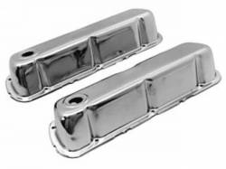 Engine - Valve Covers - Scott Drake - 1967 - 1970 Mustang Chrome Valve Covers (390, 427, 428)